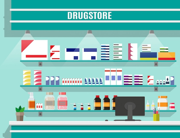 Farmacia o farmacia interna moderna.