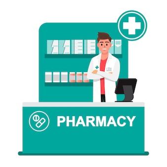 Farmacista, farmacia, farmacisti sono pronti a dare consigli sull'uso di droghe