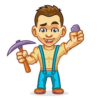 Farmer miners mascot design