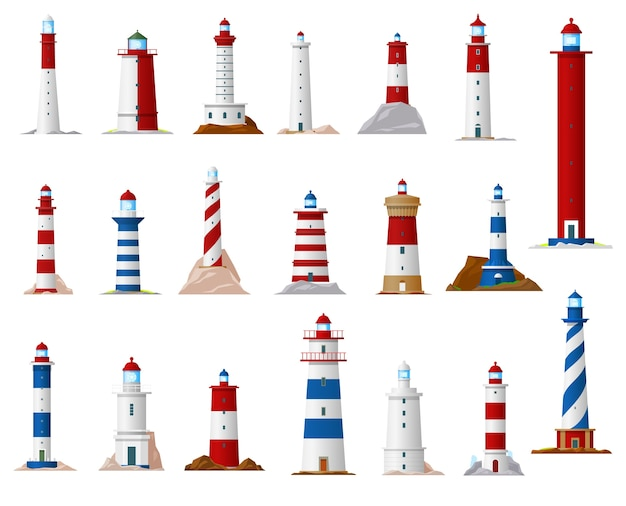 Faro di mare e torre faro