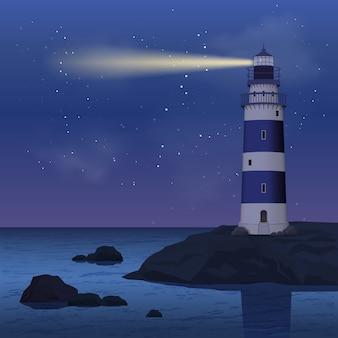 Faro nella notte
