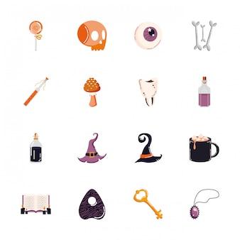 Fascio di halloween imposta icone