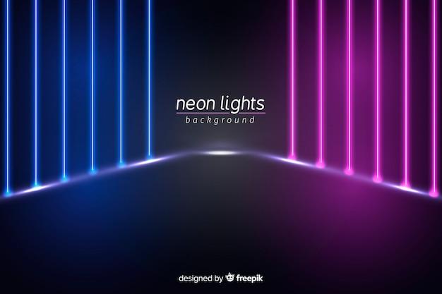 Fase di luci al neon di sfondo