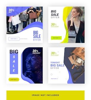 Fashion and pro modello di media per i social media
