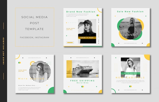 Fashion_instagram_post_template_square_banner_collection_green_and_yellow