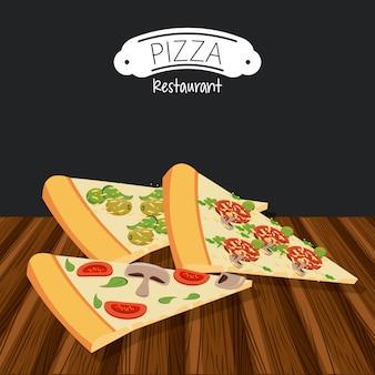 Fast food del ristorante pizzeria