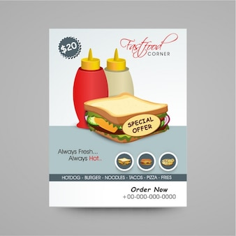 Fast food design brochure