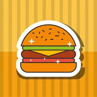 Fast food hamburger carne pomodoro e letucce