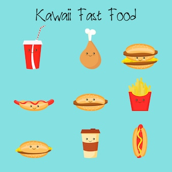 Fast food kawaii
