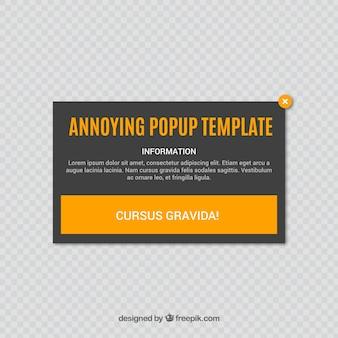 Fastidioso pop-up con design piatto