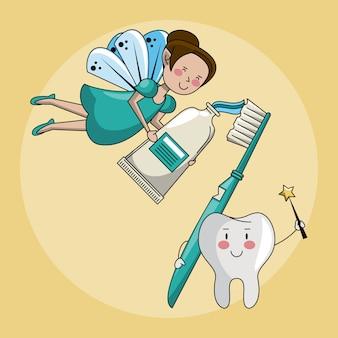 Fata dei denti e cure dentistiche