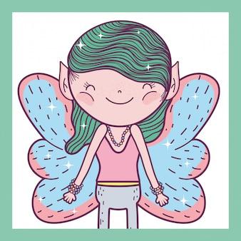 Fata fantastica creatura fantastica con le ali