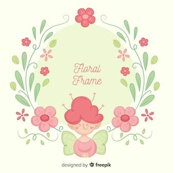 Fata sfondo floreale