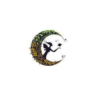 Fata sulla luna