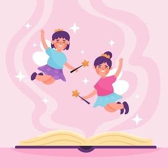 Fate da favola con le ali di un libro