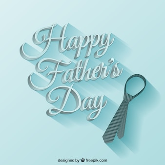 Fathers day card in stile caratteri