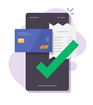 Fattura di pagamento tramite telefono cellulare smartphone online