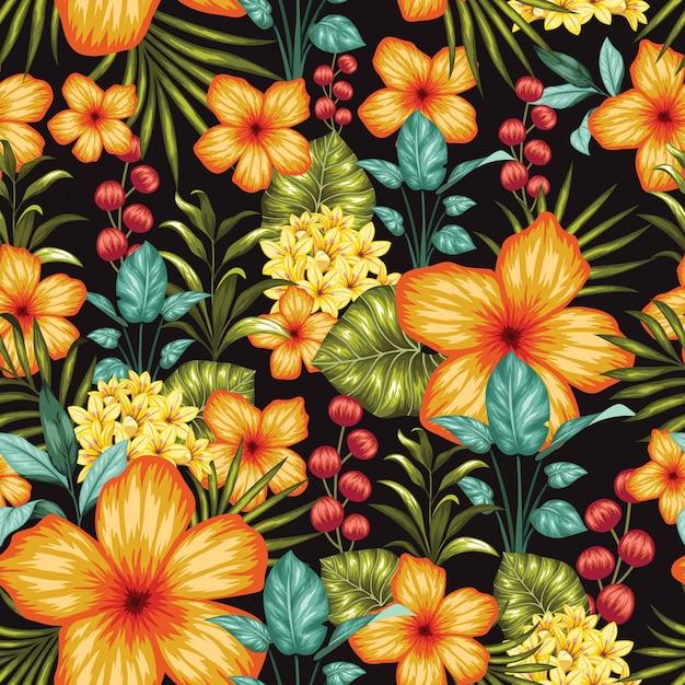 Favoloso colorato floreale senza soluzione di continuità
