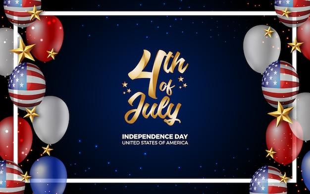 Felice 4 ° del giorno di indipendenza luglio d'america illustrazione