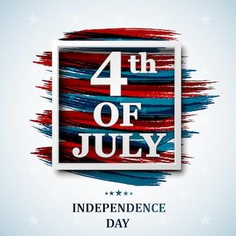 Felice 4 luglio, giorno dell'indipendenza usa. quattro luglio