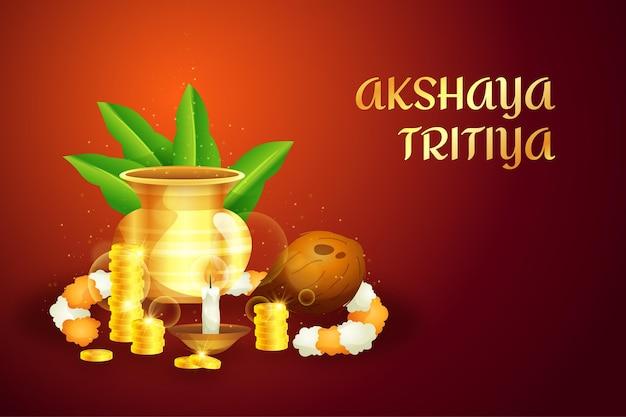 Felice akshaya tritiya tradizionale evento
