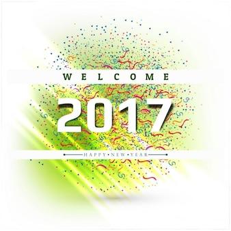 Felice anno nuovo 2017 sfondo colorato confettis