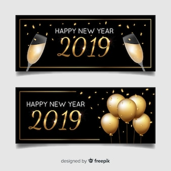 Felice anno nuovo 2019 banner