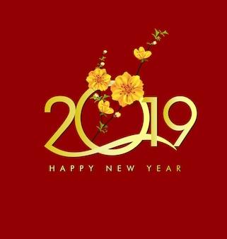 Felice anno nuovo 2019. capodanno chienese, anno del maiale