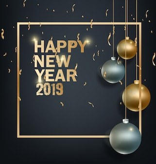 Felice anno nuovo 2019 e buon natale