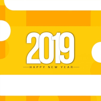 Felice anno nuovo 2019 elegante sfondo di saluto