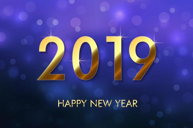 Felice anno nuovo 2019 sullo sfondo