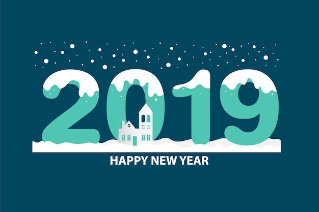 Felice anno nuovo 2019 testo design.