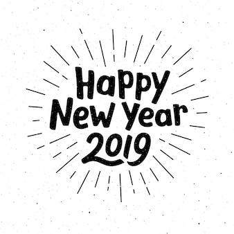 Felice anno nuovo 2019 tipografia