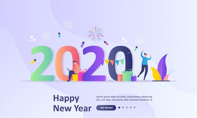 Felice anno nuovo 2020 concetto
