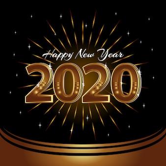 Felice anno nuovo 2020 sfondo vettoriale