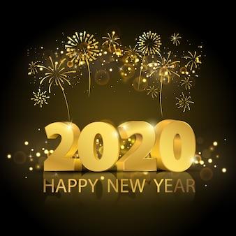 Felice anno nuovo 2020 sullo sfondo.