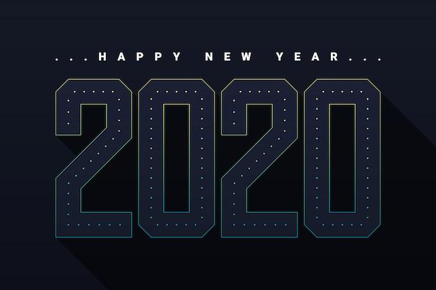 Felice anno nuovo 2020 sullo sfondo