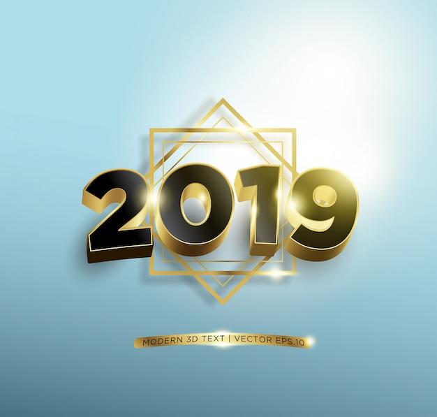 Felice anno nuovo black gold lettering