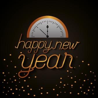 Felice anno nuovo celebrazione