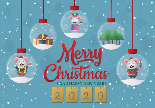Felice anno nuovo cinese 2020 anno dello zodiaco ratto