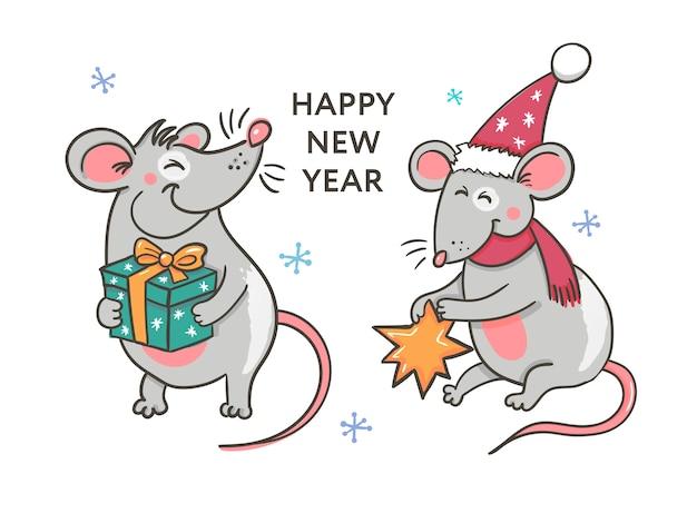 Felice anno nuovo festa di natale