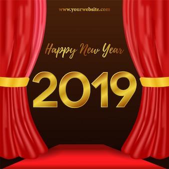 Felice anno nuovo numero d'oro
