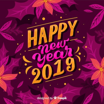 Felice anno nuovo sfondo 2019