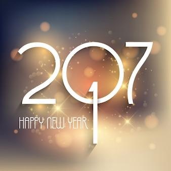 Felice anno nuovo sfondo con disegno tipografia