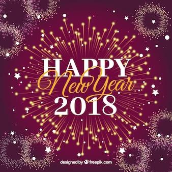 Felice anno nuovo sfondo con fuochi d'artificio