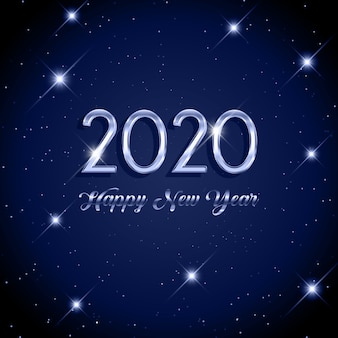Felice anno nuovo sfondo stellato