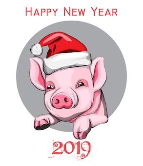 Felice anno nuovo simbolo anno maiale