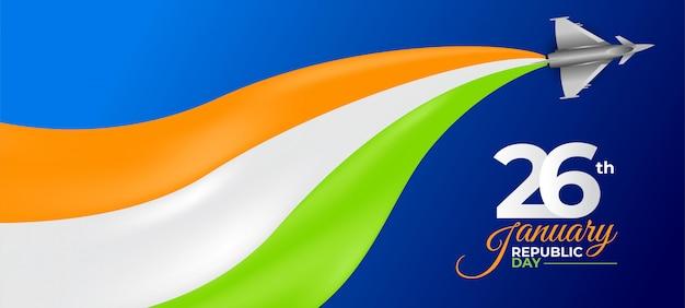 Felice celebrazione della festa della repubblica indiana. 26 gennaio