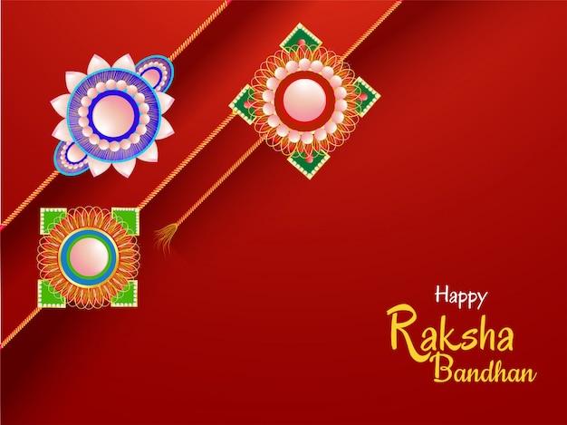 Felice celebrazione di raksha bandhan.