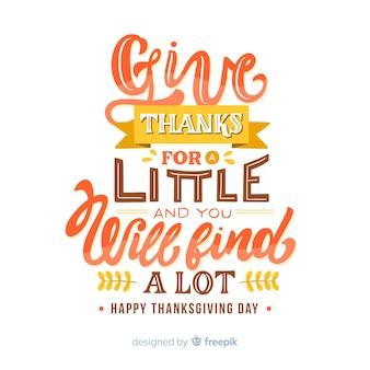 Felice concetto di ringraziamento con scritte